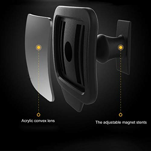 1 st verstelbaar 270 graden groothoeklens ontwerp auto achterbank achteruitkijkspiegel achterbank blinde vlek spiegel - zwart