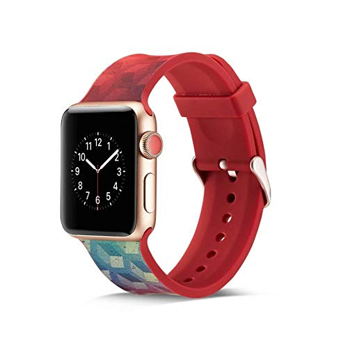 CHICAI Compatible con Apple Seguir 38mm 40mm 44mm 42mm, Reemplazo Suave Pulsera de Silicona Compatible con iWatch Serie 1/2/3/4/5 for Mujer y for Hombre (Color : E, Size : 38mm)