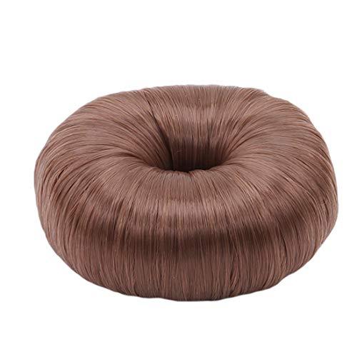 VWH Femmes Queue de Cheval Donut Cheveux Chun Élastique Éponge Wrap Titulaire Magique Fabricant de Cheveux Mariées Styling Outils Accessoires (brun)