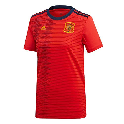 adidas Women's Soccer Spain Home Jersey (Large) Red