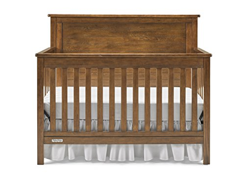 Fisher-Price Amherst 4-in-1 Convertible Crib, Country Brown, One Size