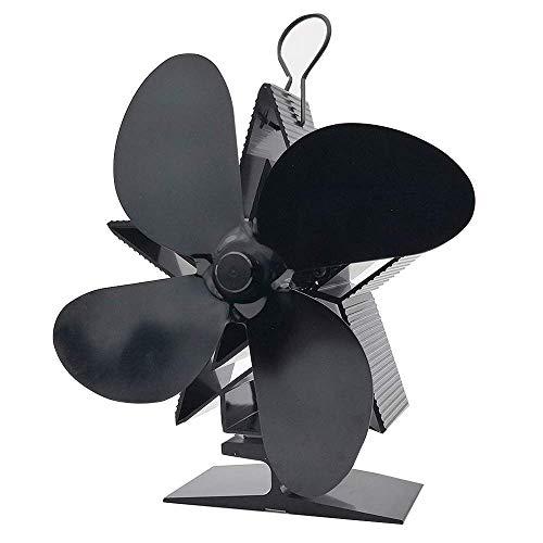 GCE Ventilador de Estufa con energía térmica Accesorios para Chimenea Ventiladores ecológicos para Estufas de leña Ventilador de Chimenea silencioso para el hogar Distribución eficiente del calo
