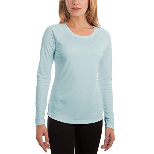 Vapor Apparel Damen Atmungsaktives UPF 50+ UV Sonnenschutz Langarm Funktions T-Shirt M Arctic Blau