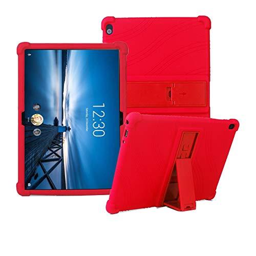 YGoal Funda para Lenovo Tab P10/M10 - Cubierta Protectora a Suaves para niños de Peso liviano Silicona Case Cover para Lenovo Tab P10/M10, Rojo