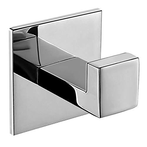 Homovater Ganchos Adhesivos, Soporte de Pared para Toallas de Baño, Cocina y Baño, Acero Inoxidable 304 Toalleros de gancho para baño