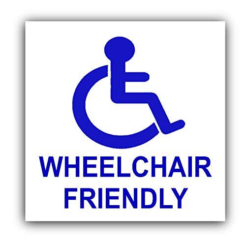 """Auto-Aufkleber - rollstuhlgerecht """"Wheelchair Friendly"""" -Rollstuhl - für Auto, LKW, Taxi, Bus, selbstklebend"""