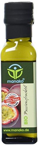 manako BIO Passionsfruchtöl (Maracujasamenöl), 100ml Glasflasche (1 x 0,1 l)