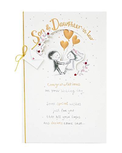 Hochzeitskarte für Sohn und Schwiegertochter, Hochzeitskarte für Sohn und Schwiegertochter, Hochzeitskarte für Braut und Bräutigam, Hochzeitskarte mit Vers, Hochzeitsgeschenkkarte