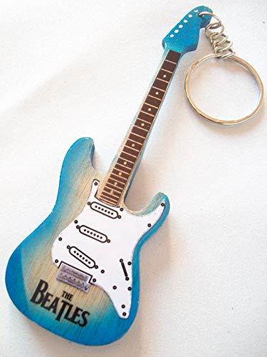 Llavero de madera con forma de guitarra eléctrica