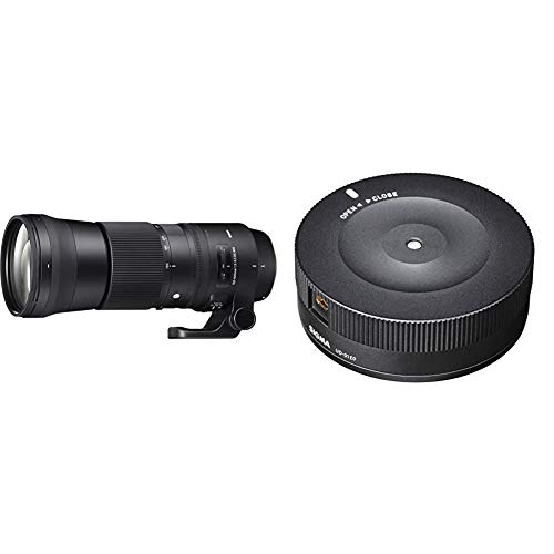 Sigma 150-600mm F5,0-6,3 DG OS HSM Contemporary Objektiv (95mm Filtergewinde) für Canon Objektivbajonett & USB-Dock für Canon Objektivbajonett