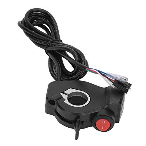 Kee nso Thumb Throttle Control, 12V - 99V E-Bike Vierlicht-LCD-Display mit mittlerer Daumendrosselklappe Batteriespannung Netzschalter für Elektrofahrzeuge