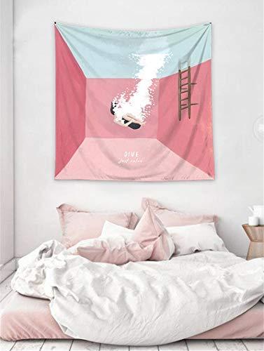 WERT Tapiz Bohemio Colgante de Pared decoración del hogar Manta Arte Viaje Estera de Camping Dormitorio Fondo Tela Playa sofá Cubierta A2 150x130cm