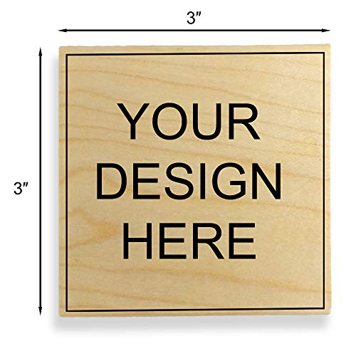 Custom Art Mount Rubber Stamp. Max. Image Size: 3' high x 3' Wide (75mm x 75mm) - Many Sizes to...