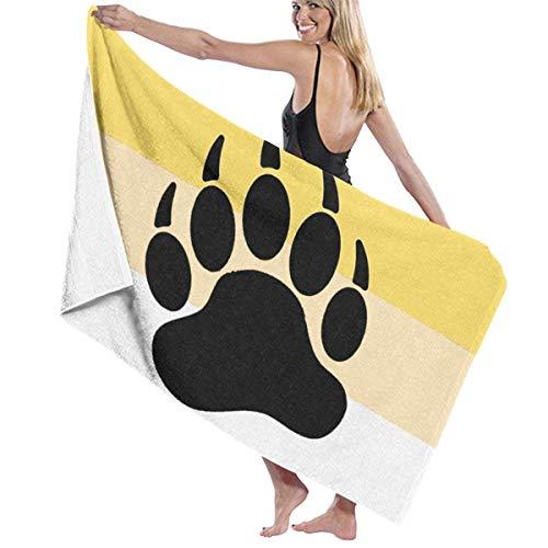 WKLNM badhanddoek, Gay Bear Paw Print Vlag Wasdoeken 100% Polyester Yoga Handdoek Zeer absorberende Sauna Handdoek Snelle Droge Badlakens voor Home Hotel Spa - 32x51 inch