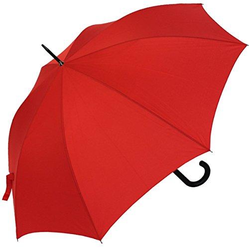 RS-Stockschirm groß stabil für Damen und Herren mit Automatik- rot