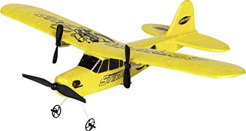 Carson 500505029 500505029-Stinger 340 2.4G RTF, Ferngesteuerte Flugmodelle, Modell, RC Flugzeug, inkl. Batterien und Fernsteuerung, 100% flugfertig, gelb