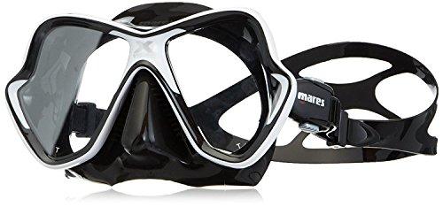Mares Erwachsene X-Vision Tauchmaske, White/Black, One Size