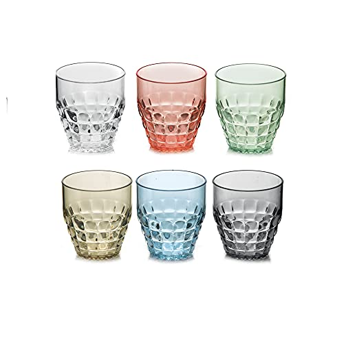 GUZZINI SET 6 Bicchieri BAS TIFFANY ASSORTED
