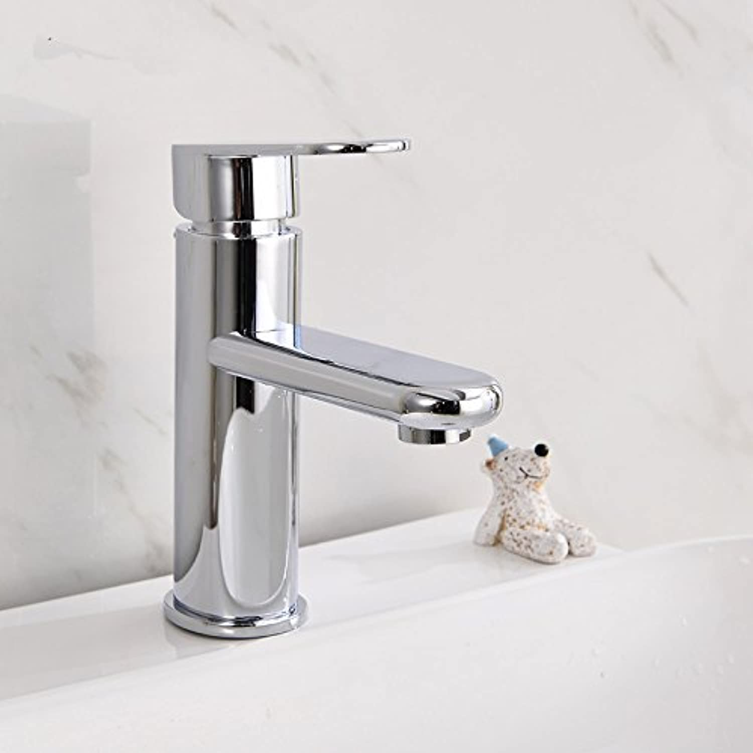 Retro Deluxe Faucetinging Free shipping Hot cold copper basin faucet with single handle bathroom basin sink faucet of polished chrome basin sink tap,not with hose