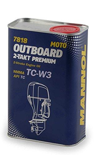 MANNOL Outboard 2-Takt Premium Außenbordmotor, Außenborder NMMA API Motoröl 7818 1Liter