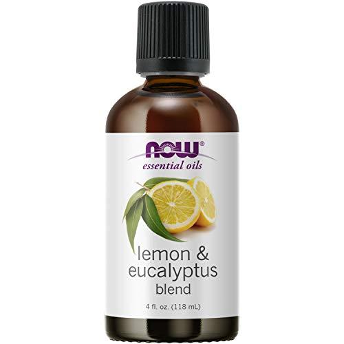NOW Essential Oils, Lemon & Eucalyptus Oil Blend, Invigorating Aromatherapy Scent, Blend of Pure Lemon Oil and Pure Eucalyptus Oil, Vegan, Child Resistant Cap, 4-Ounce