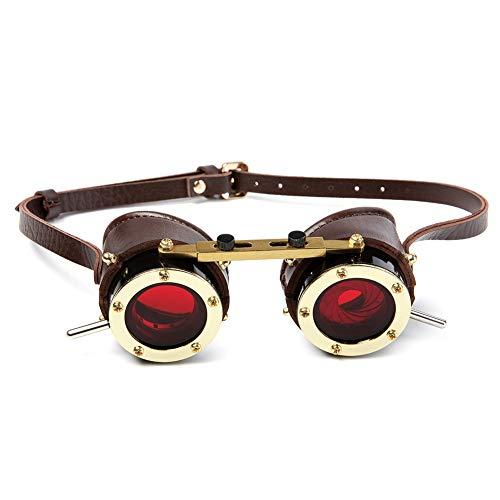OYOYOY Halloween Steampunk Goggles Industrial Retro Gafas gótico Estilo Victoriano Cosplay al Aire Libre Disfraces Disfraces Disfraces