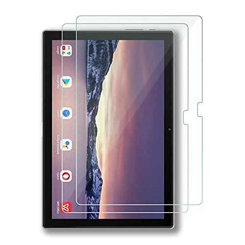FiiMoo [2 Piezas] Tablet Protector de Pantalla, Compatible con Blackview Tab 10, 9H Dureza Cristal Templado Protector Film, Bubble Free/HD/Anti-Huella-Transparent