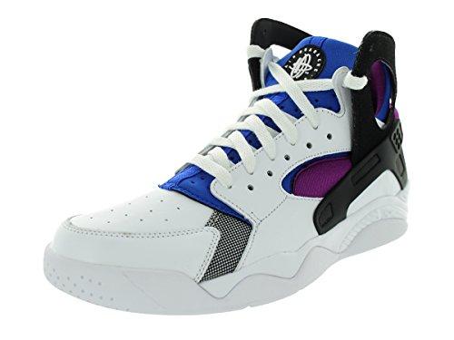 Nike Air Flight Huarache PRM QS Men's Shoes White/Black-Lyon Blue-Bold Berry 686203-100 (9 D(M) US)