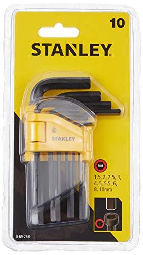 Stanley Hex Key Set 10Pc 1.5-10Mm 0 69 253