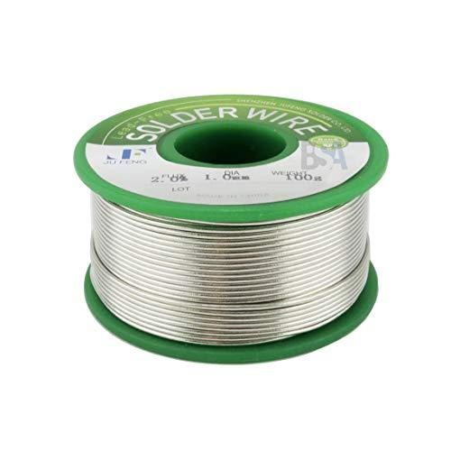 Hilo para soldadura Sn 99 Ag 0,3 Cu 0,7 100 g diámetro 1 mm con flujo IROX sin plomo Lead Free estaño plata cobre Tin Solder Wire aleación soldadante para electrónica con núcleo de colofonia