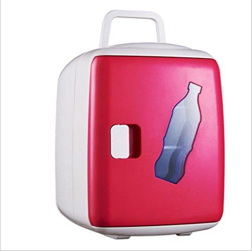 Q-HL Auto Elektrische Kühlschrank Kühlbox, 5L Auto Kühlschrank, tragbare Mini-Kühlschrank, AC und DC Hotspot-System, Thermostat, Medikamentenlager, Kosmetik-Kühlschrank (Color : Pink)