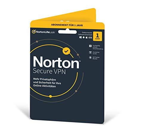 Norton Secure VPN | 1 Gerät | 1 Jahr | PC/Mac/Android | Aktivierungscode in Originalverpackung