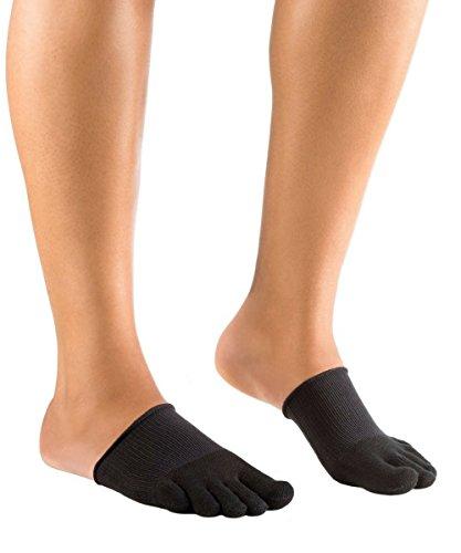 Knitido Dr. Foot Hallux-Valgus-Zehlinge, geschlossene Füßlinge zur Unterstützung bei Ballenzeh, Größe:35-40, Farbe:Schwarz
