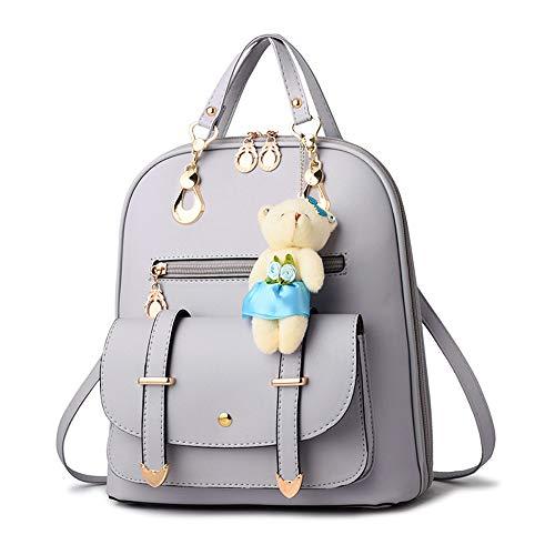 Mochila para mujer resistente al agua,PU de cuero , mochila escolar, antirrobo, mochila de...