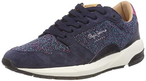Pepe Jeans London Damen Foster Studio Sneaker, Blau (Midnight 582), 36 EU
