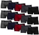 MERISH Boxershorts Men Herren 15er Pack Unterwäsche Unterhosen Männer Retroshorts 415 (XL, 415b 15er Set Mehrfarbig)