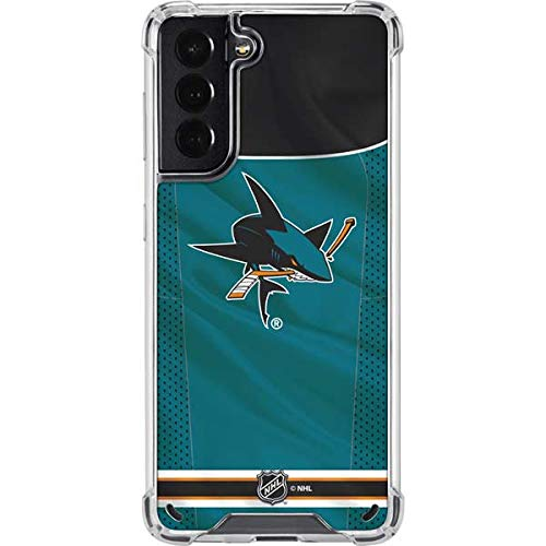 Skinit Clear Phone Case Compatible with Galaxy S21 5G - Officially Licensed NHL San Jose Sharks Home Jersey Design
