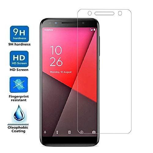 REY Protector de Pantalla para VODAFONE Smart N9 Lite, Cristal Vidrio Templado Premium