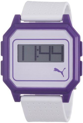 Puma PU910951007 Flat Screen White Purple Watch