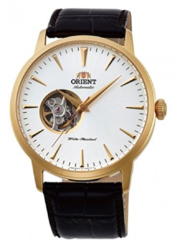 Orient Unisex Erwachsene Analog Automatik Uhr mit Leder Armband FAG02003W0