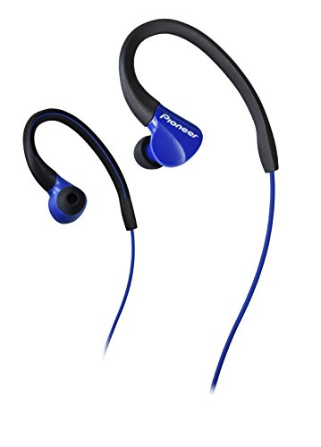 Pioneer SE-E3-L - Auriculares Deportivos (Resistentes al Agua IPX-2, Clips Ajustables) Color Azul