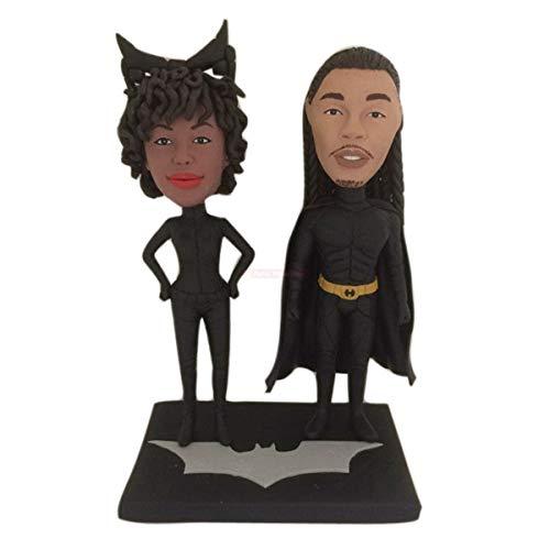 Batman Personalized Wedding Cake Topper Batman Wedding Cake Topper Batman Groom Cat Woman Personalized Wedding Cake Topper Catwoman Bride