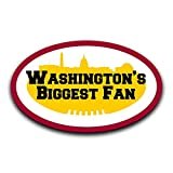 More Shiz Washington's Biggest Fan Aufkleber für Auto, LKW, Van, Stoßstange, Fenster, Laptop, Tasse, Wand, 2 12,7 cm – MKS0393