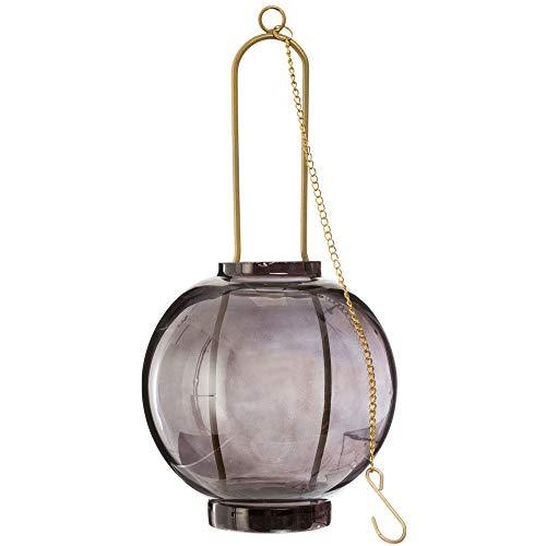 Atmosphera - Photophore en Verre à supsendre avec Chaine en métal Blush Living D14XH30 cm