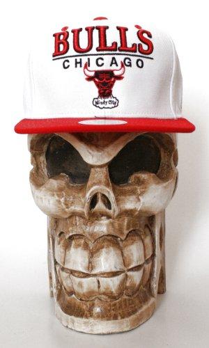 Mitchell & Ness Chicago Bulls White Line - Gorra con visera plana...