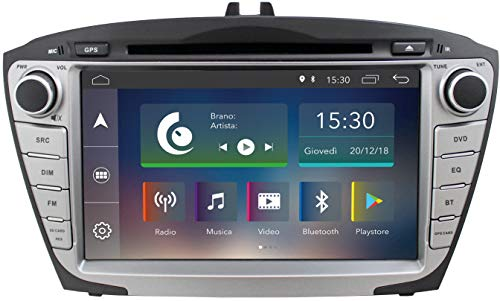 """Jfsound, Autoradio Custom Fit, Hyundai IX35, con Android 8.0 8Core, con GPS Integrato e Schermo da 7"""", Easyconnect"""