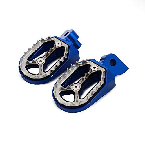 YGLIANHE Motorcycle CNC Wide Footrests Pegs Fits For Billet Gas Gas EC models 1997-2015 Motocross Enduro Supermoto Dirt Bike (Color : Blue)