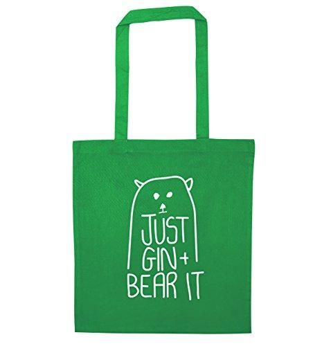 Flox Creative Tragetasche Just Gin and Bear It Gr. Einheitsgröße, grün