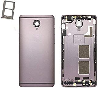 Foir Gray Rear Battery Door Housing Back Case Cover For Oneplus 3 three 3T +Side Buttons Sim Card Tray WIth Camera Glass Lens Free tools