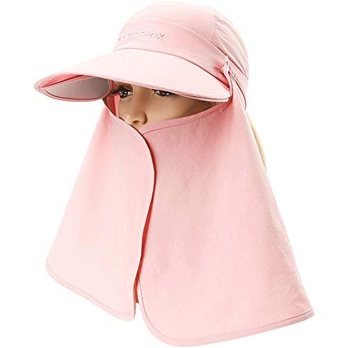 JU FU Hut - Damen Sommer Outdoor Gesichts Nackenschutz Sonnenhut Full Range Sonnenschutz Multifunktions Elektrofahrzeug UV Sonnenhut (Pink) |